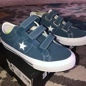Blue suede leather Converse!